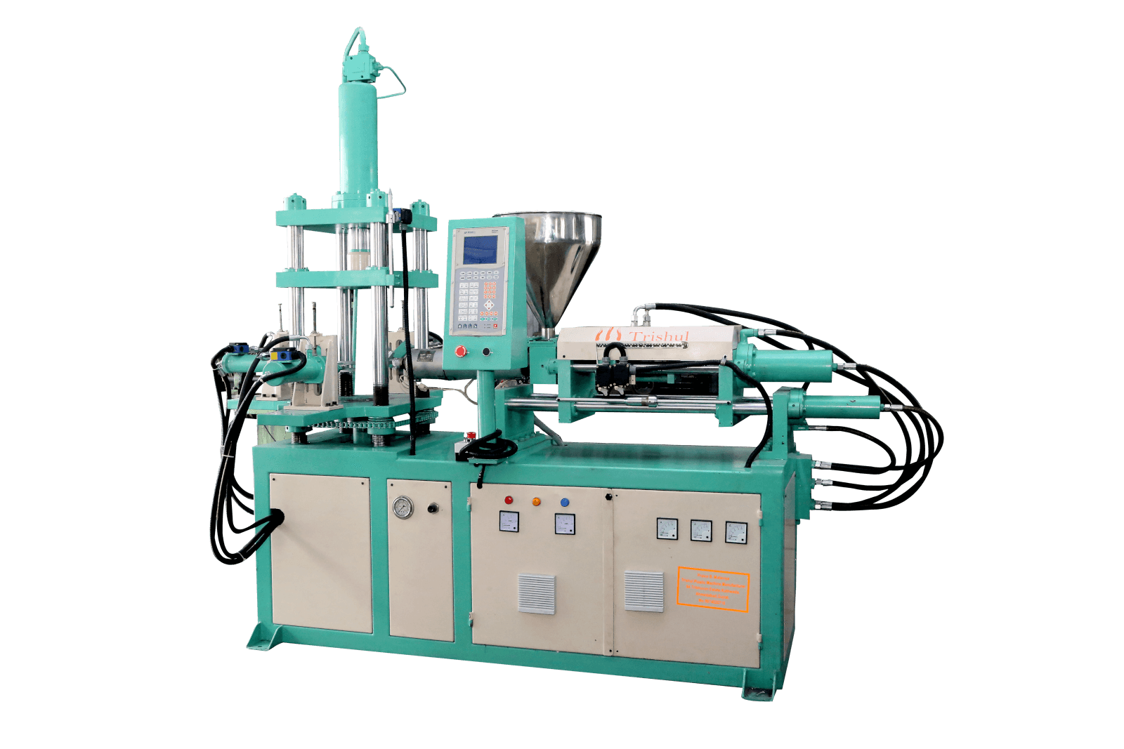 Fully Auto Vertical Clamping Horizontal Injection Moulding Machine